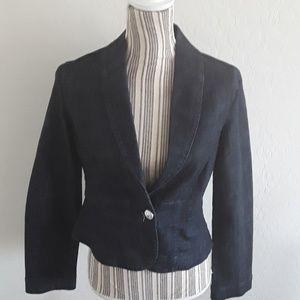 White House Black Market Denim Jacket/Blazer